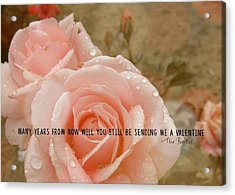 When I'm 64 Quote Acrylic Print by JAMART Photography