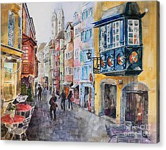 When In Zurich Acrylic Print by Catalina Rankin