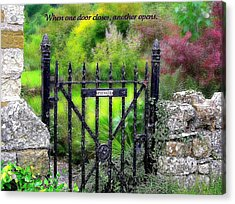 When One Door Closes Acrylic Print by Jen White