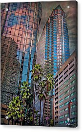 When Palmtrees Become Nondescript Acrylic Print by Hanny Heim