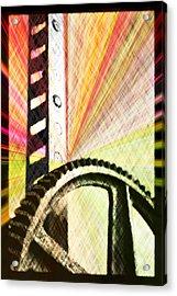 When Rack And Pinion Spark -- Zahnstangenfunkel Acrylic Print by Arthur V Kuhrmeier