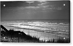 When Silver Dances Upon The Sea Acrylic Print