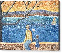 When The Boats Sail Acrylic Print