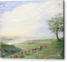 When The Cows Come Home 1991 Acrylic Print by Wingsdomain Art and Photography