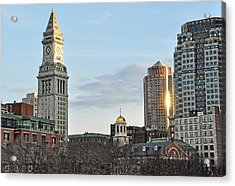When The Lights Go Down In The City Acrylic Print