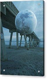 Waning Moon Acrylic Print by Betsy Knapp
