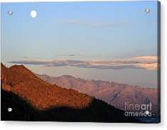 When The Mountains Turn Pink... Acrylic Print by Paula Guttilla