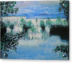 Acrylic Print featuring the painting When The Rivers Rise by Dan Whittemore