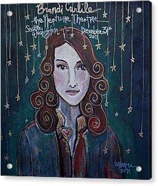 When The Stars Fall For Brandi Carlile Acrylic Print