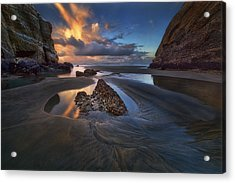 When The Tide Receded Acrylic Print by Yan Zhang