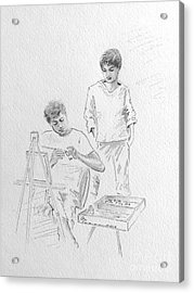 When They Were Young Acrylic Print by Barbara Chase