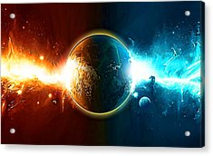 When Worlds Collide In Space Acrylic Print