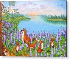 Where Bloom Lupines Acrylic Print