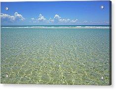Where Crystal Clear Ocean Waters Meet The Sky Acrylic Print