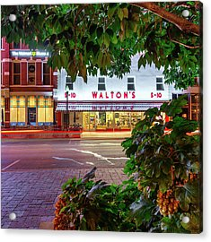 Acrylic Print featuring the photograph Where It All Began - Sam Walton's First Store - Bentonville Arkansas by Gregory Ballos