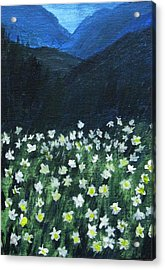Acrylic Print featuring the painting Where Lilies Grow by Trilby Cole