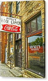 Where My Dad Shot Pool In Ky Acrylic Print by Randall Branham