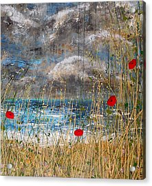 Where Poppies Blow Detail Acrylic Print