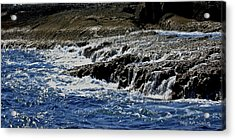 Where Sea And Shore Become One Acrylic Print by DigiArt Diaries by Vicky B Fuller