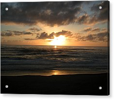 Where Sun And Ocean Meet Acrylic Print by Tim Mattox