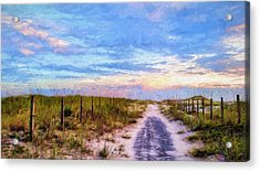 Where The Blacktop Ends - A Digital Rendition Acrylic Print by JC Findley