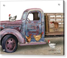 The Flock Spot  Acrylic Print by Sarah Batalka