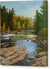 Where The River Flows Acrylic Print