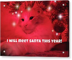 Where's Santa? Acrylic Print by JAMART Photography