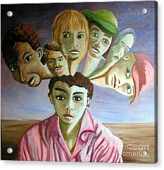 Which Of My Sub Personalities Is The Real Me Acrylic Print by Tanni Koens