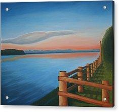 Whidbey Island Sunset Acrylic Print by Stephen Degan