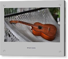 While My Guitar Gently Sleeps Acrylic Print by Jim Walls PhotoArtist