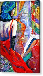 While They Wait Acrylic Print by Claudia Fuenzalida Johns