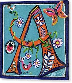 Whimsical A Acrylic Print
