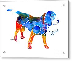 Acrylic Print featuring the painting Whimsical Beagle by Jo Lynch