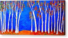 Whimsical Birch Trees Acrylic Print
