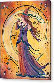 Whimsical Evening Witch Acrylic Print