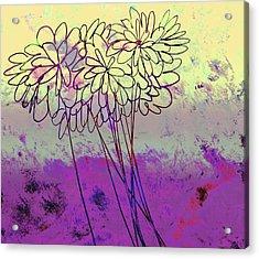Whimsical Flower Bouquet Acrylic Print by Ann Powell