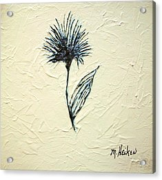 Whimsical Flower Acrylic Print by Marsha Heiken