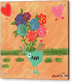 Henrietta The High Heeled Hen Acrylic Print