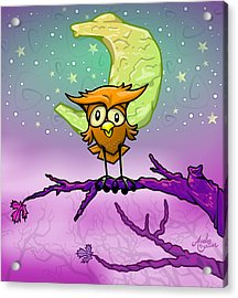 Whimsical Night Owl Acrylic Print by Andy Bauer