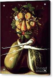 Whimsical Portrait Acrylic Print by Arcimboldo