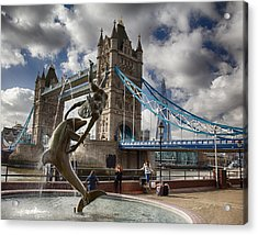Whimsy At Tower Bridge Acrylic Print