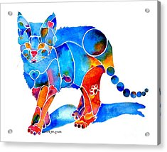 Whimzical Katie Kitten Acrylic Print