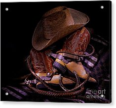 Whip It Cowboy Acrylic Print