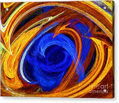 Acrylic Print featuring the digital art Whirlpool Abstract by Andee Design