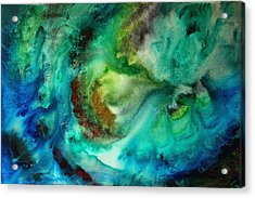 Whirlpool By Madart Acrylic Print by Megan Duncanson