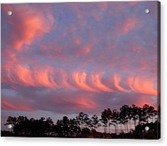 Acrylic Print featuring the photograph Whirlwind Salmon Clouds by Jeanne Kay Juhos