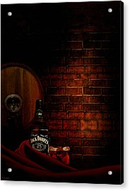 Whiskey Fancy Acrylic Print by Lourry Legarde