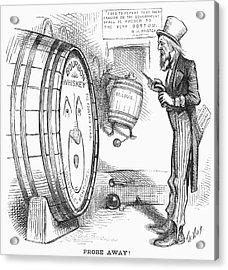Whiskey Ring Cartoon, 1876 Acrylic Print by Granger