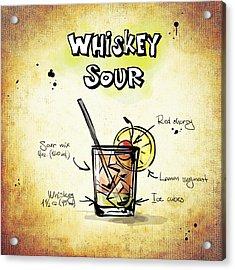 Whiskey Sour Acrylic Print